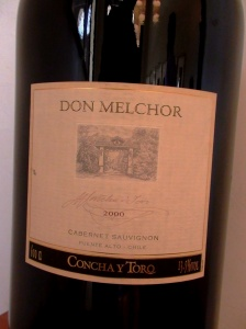 A bottle of Concha y Toro iconic wine