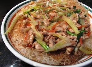 S. Yuen recipe dish - crispy vermicelli