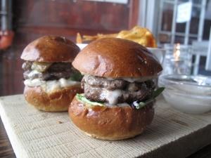 Venison burger platter