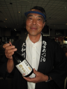 Sake Master Sato and gold winner