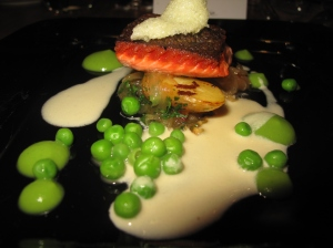 Sockeye salmon & lemongrass cream