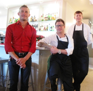 Watts (middle) and Restaurant Manager