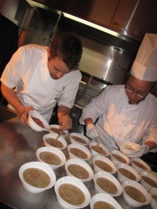 Chef Ned Bell preparing an Asian dish