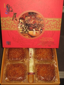 Traditional moon cakes available at The Real Canadian Super Stores and No Frills