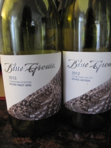 Blue Grouse 2013 Estate Pinot Gris & Estate Orgega